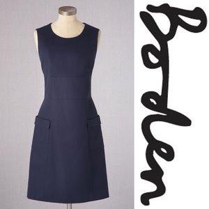 Boden Navy Retro Pocket Dress 8L